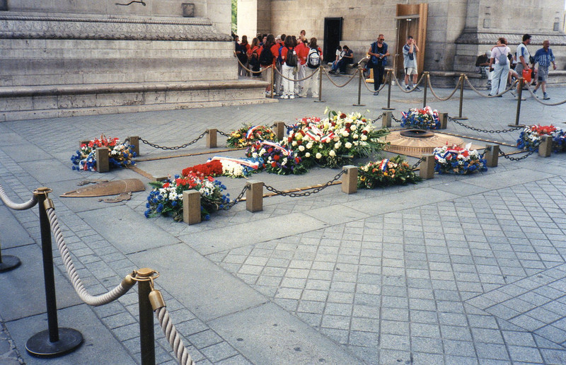 Eternal Flame of the Tomb Unknown Soldier at the Arc de Triomphe