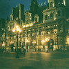 Hotel de Ville (City Hall) at night! Beautiful at night!
