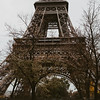 base of the eiffel tower in autumn