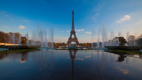 The Eiffel Tower as seen from Palais de Chaillot