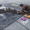 Street artist near Pompidou center