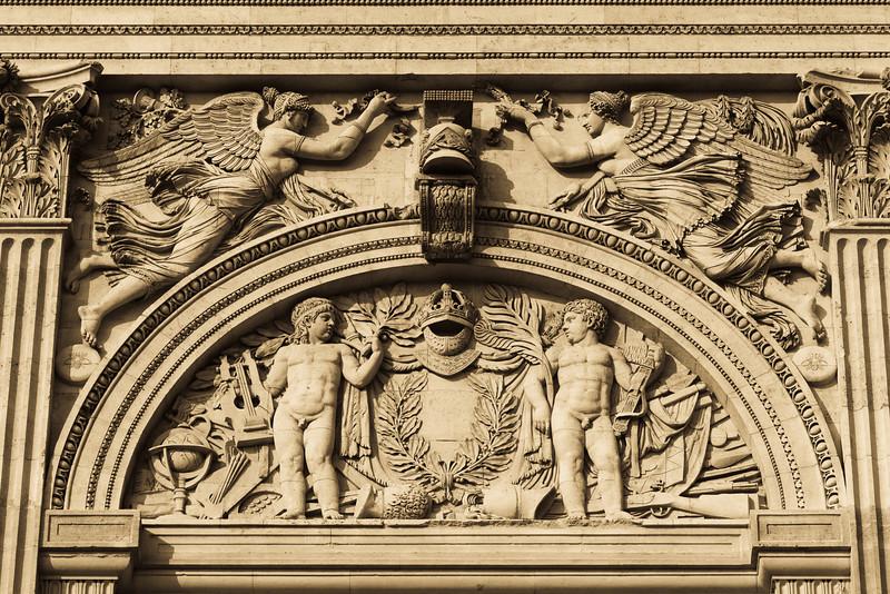 detail of Palais du Louvre