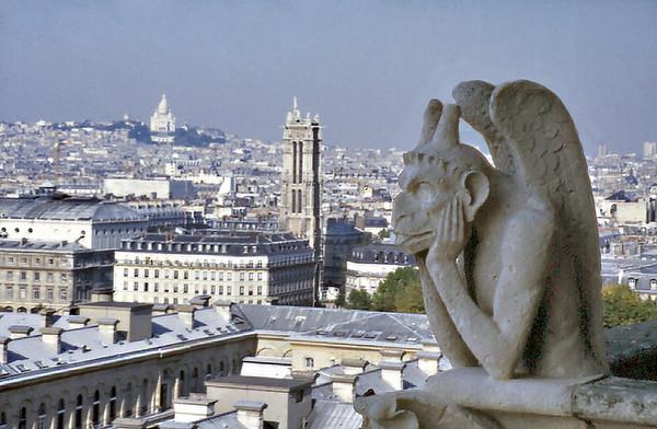 Gargoyle Notre Dame de Paris France - Oct 1978