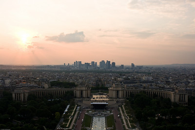 View from the Eiffel Tower - towards Le Defense