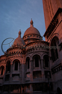 "The Sacre Coeur at dawn. This was just around the corner from the apartment so I would go here often at dawn. This particular day a fellow offered to ""eat my sex"". I thanked him and declined : )"