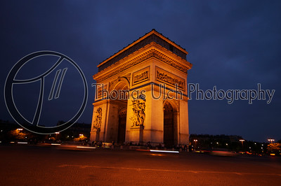 The Arc de Triomphe. Paris , France.