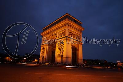 The Arc de Triomphe. Paris , France.
