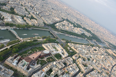 View from the Eiffel Tower - river Seine-2