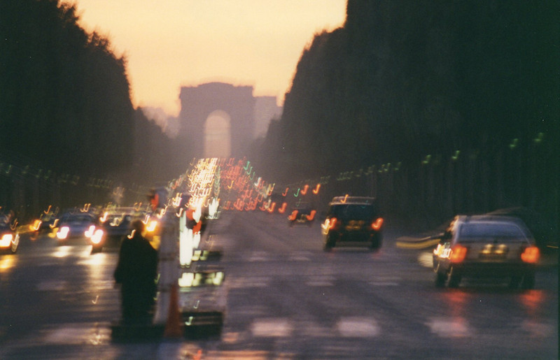 Champs Elysee at dusk