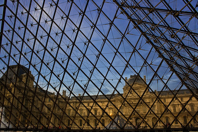 Looking outside at the Louvre