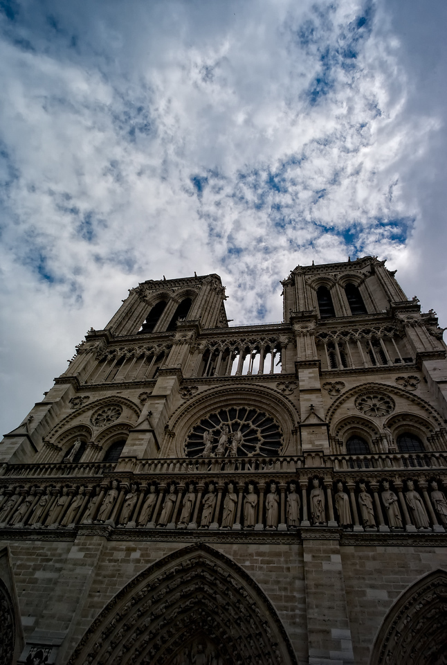 Notre-Dame, an awsome sight since the 12th century.