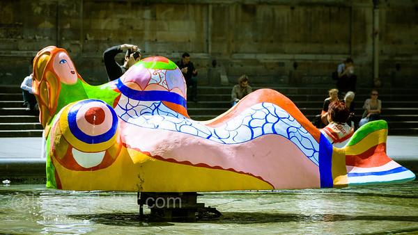 Niki de Saint Phalle Sculpture at Centre Pompidou, Paris