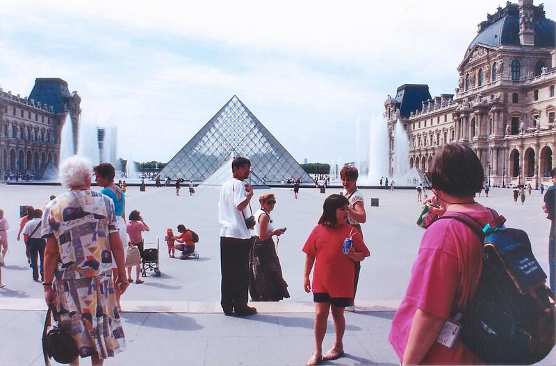 Pei pyramid Le Louvre Paris France - Jul 1996