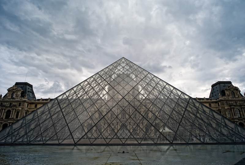 Through the looking glass at the Louvre.