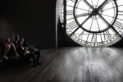 Teens resting at Musee d' Orsay