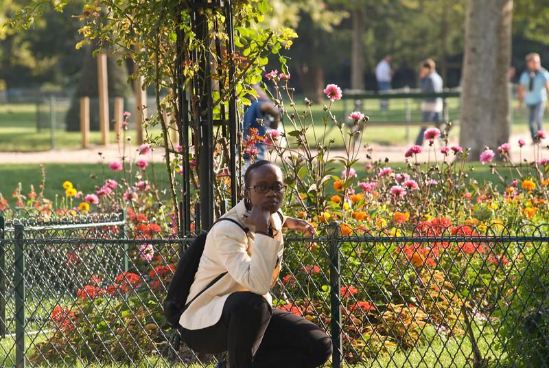 Beauty amongst the flowers