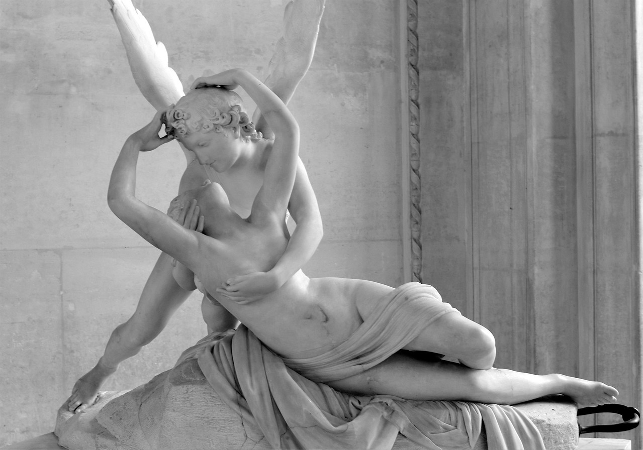 "Antonio Canova - ""Psyche Revived by Cupid's Kiss"" at the Louvre."