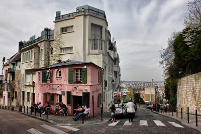 Surprisingly dirty, tourist filled, and unappealing Montmartre.