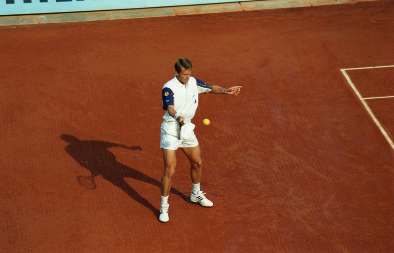 Frech Open '95: Stephan Edberg, Court A (now named Court Suzanne Lenglen)