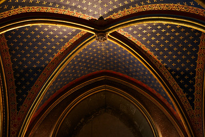 Saint Chapelle Ceiling from the lower chapel