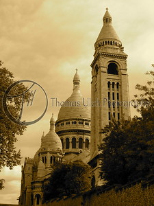 The Sacre Coeur on the butte Montmartre. Paris , France.