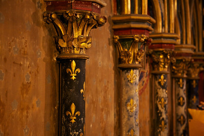 Old Saint Chapelle Columns in many different colors and patterns