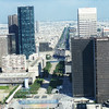 Av de la Grande Armee to the Arc de Triomphe from atop the Grande Arche de la Defense