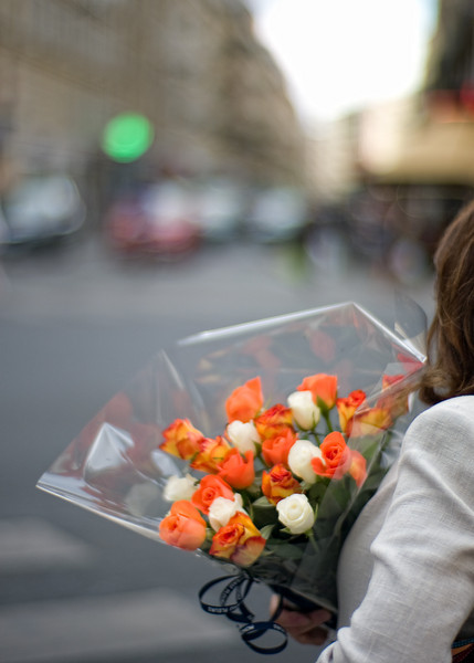 For many Parisians, the morning means fresh flowers.  Wonderful bouquets can be found on every street in the city.