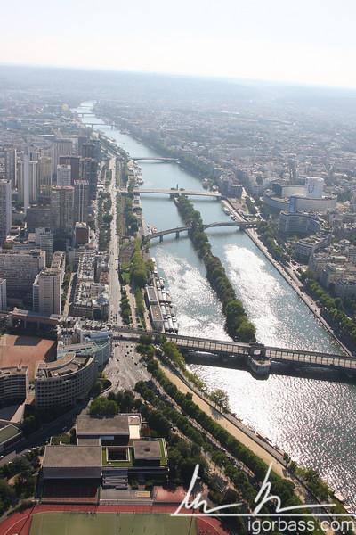 Seine from Eiffel Tower (Paris, FR)