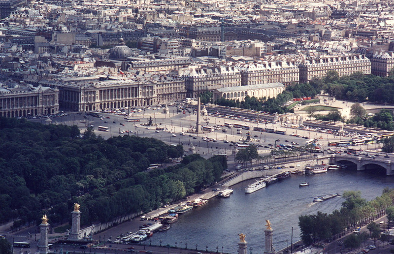 Place de la Concorde from atop the Tour Eiffel