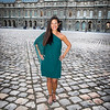 Photo Shoot in the Courtyard of the Louvre.