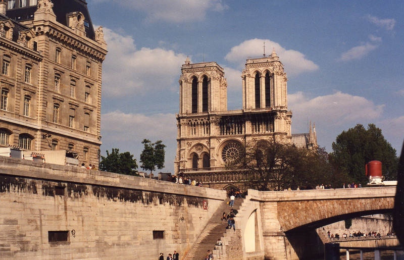 Notre Dame from Bateaux Mouche, Seine cruise