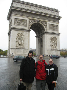 Rudolph, Vance and Jacomien - a triumphant meeting in Paris.