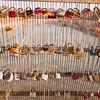 love locks on bridge in Paris