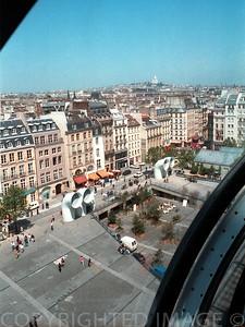 View from le Centre Georges Pompidou, Paris