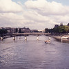 Seine, Pont de Arts, Sq du Verte Gallant (tip of Ile de la Cite) to left, Louvre to the right