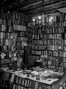 Shakespeare and Co. George Whitman. Paris , France.