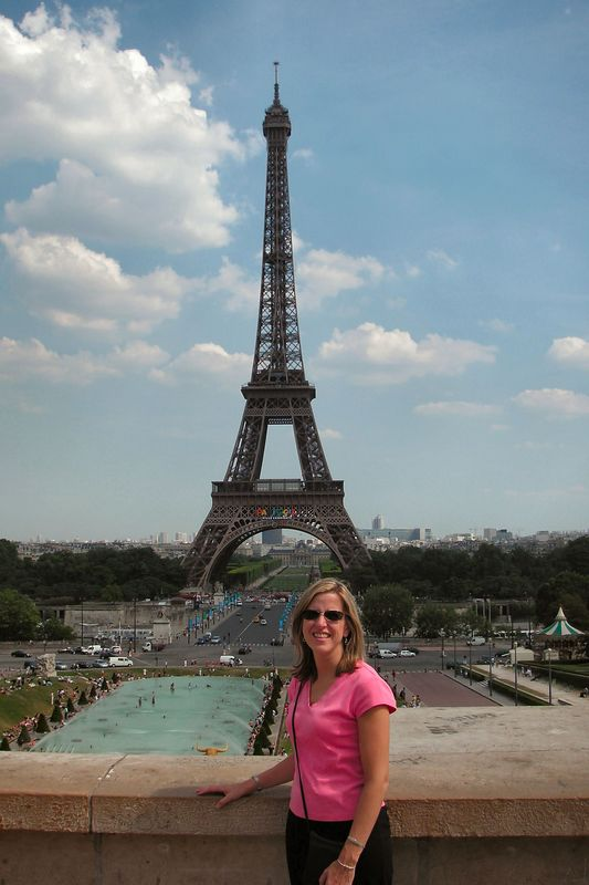 Elizabeth at the Eiffel Tower