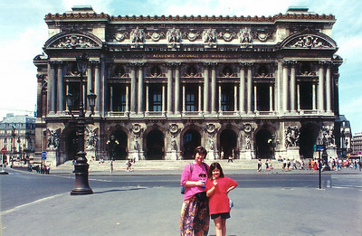 Gill and Lan in front of the Opera Paris France - Jul 1996