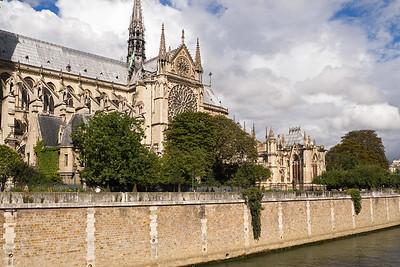 Notre Dame Cathedral on Île de la Cité