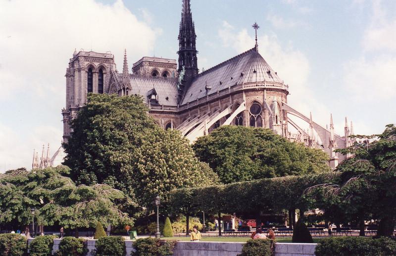 Notre Dame on Ile de la Cite from Left Bank