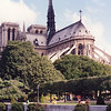 Notre Dame on Ile de la Cite from Left Bank