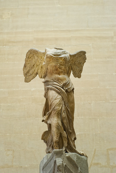 The Victory Angel from the main gallery at the Louvre.