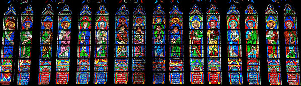 Windowmen of Notre Dame Cathedral:  if you look closely you can make our their stories and many identities.