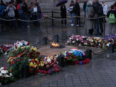 Eternal Flame inside the Arc de Triomphe.