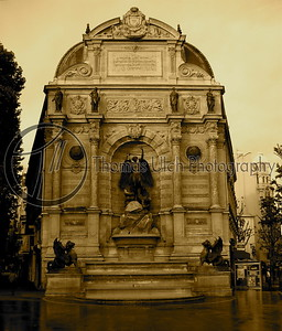 The Fountain of St Michael. Paris , France.