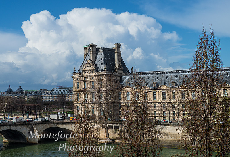 The Louvre, Paris France. The view from my hotel room..