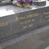Edith Piaf's grave at Cemetery Pere Lachaisse