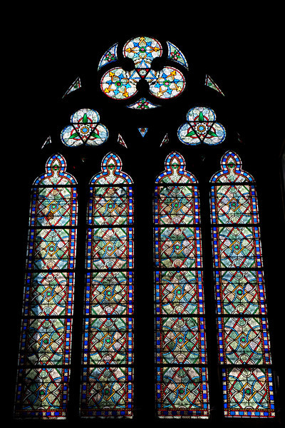Stained glass windows of Notre Dame