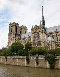 Notre Dame Across the Seine, classic European icon.